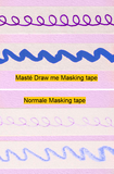 Masking tape Masté draw me hartjes_