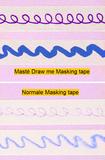 Masking tape Masté draw me confetti_