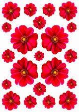 Fietsstickers Dahlia rood