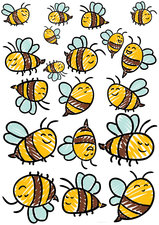 Fietsstickers getekende bijen