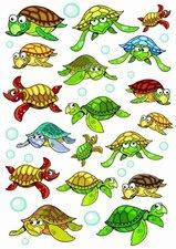 Fietsstickers schildpadden