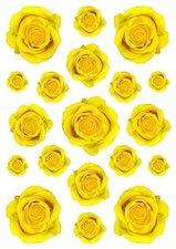 Fietsstickers rozen geel
