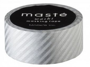 Masking tape Masté stripes zilver