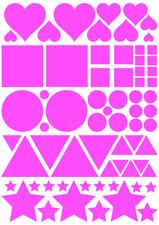 Fietsstickers figuren roze