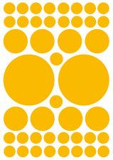 Fietsstickers kleine en grote stippen geel