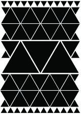 Fietsstickers driehoeken zwart