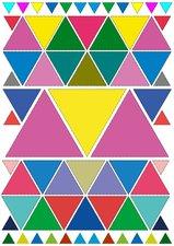 Fietsstickers gekleurde driehoeken
