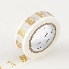 MT Masking tape ABC alfabet goud