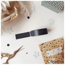 MIEKinvorm Masking tape zwart met kleine witte stipjes
