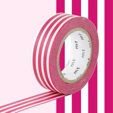 MT Masking tape border framboise