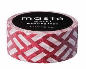 Masking tape Masté strepen motief bruin/bordeaux