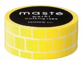 Masking tape Masté neon gele blokken