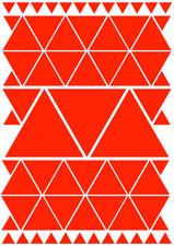 Fietsstickers driehoeken oranje