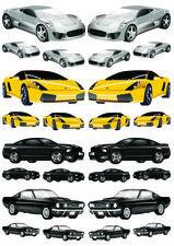 Fietsstickers cars