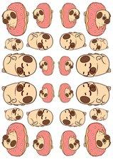 Fietsstickers mopshondje donut