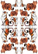 Fietsstickers tijgers