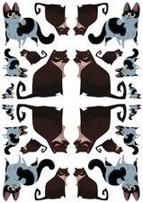 Fietsstickers katten vriendjes
