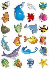 Fietsstickers zeedieren