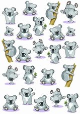 Fietsstickers koala beertjes