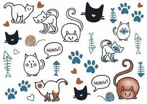 Fietsstickers kattenliefde