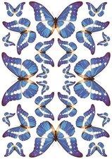 Fietsstickers vlinders blauw