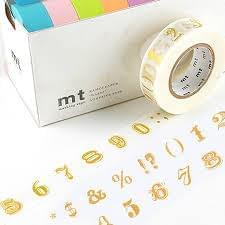 MT Masking tape number symbol gold
