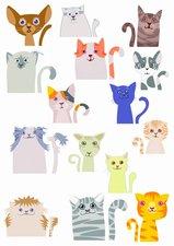 Fietsstickers katten